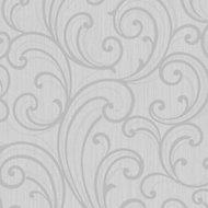 Colours Sarika Grey Scroll Glitter Wallpaper