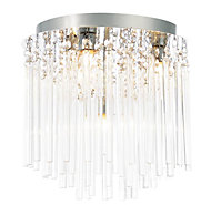 Tooma Brushed Chrome effect 4 Lamp Bathroom Ceiling light