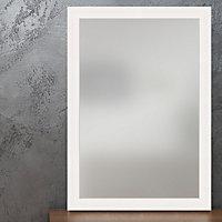 Colours Ganji Matt Framed Curved Wall mirror (H)1040mm (W) 740mm