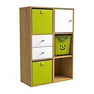 Form Konnect Oak effect 6 Cube Shelving unit
