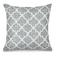 Navy Geometric tile Cushion