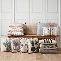 Elephant Cushion, Grey