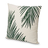 Palm silhouette Cushion, Green & white