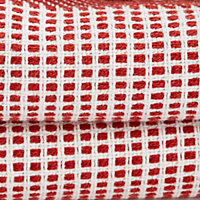 Cinnabar red Striped Woven Throw