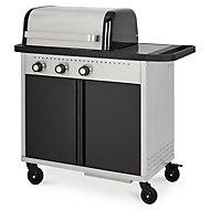 Rockwell 310 3 Burner Black Gas Barbecue
