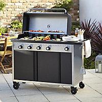 Rockwell 450 4 Burner Black Gas Barbecue