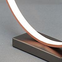 Colours Lyssa Ring Matt Copper effect LED Table lamp