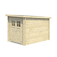 9x6 BELAÏA Pent roof Tongue & groove Wooden Shed with floor