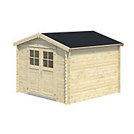 9x9 BELAÏA Apex roof Tongue & groove Wooden Shed with floor