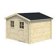 10x9 BELAÏA Apex roof Tongue & groove Wooden Shed with floor
