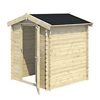 5x5 MOKAU Apex roof Tongue & groove Wooden Shed with floor