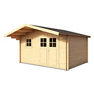 12x10 TAMAN Apex roof Tongue & groove Wooden Shed with floor
