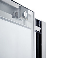 Cooke & Lewis Zilia Sliding shower door (W)1400mm