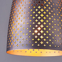 Akita Antique copper effect Moroccan Ceiling light