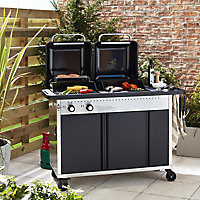 Rockwell Gas & charcoal Black Hybrid barbecue