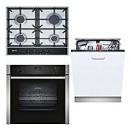 Neff Single Oven, gas hob & dishwasher Pack