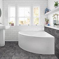 Cooke & Lewis Strand Acrylic Corner Bath & panel (L)1350mm (W)1350mm