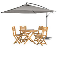 Denia 4 seater Dining set with parasol