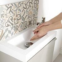 GoodHome Imandra Gloss White Vanity unit & basin