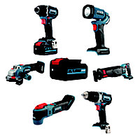 Erbauer EXT 18V 5Ah Li-ion Cordless 6 piece Power tool kit