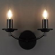 Milverton Black Bedroom & living room Wall light