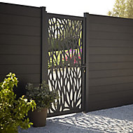 GoodHome Neva Aluminium Decorative Gate, (H)1.7m (W)0.93m