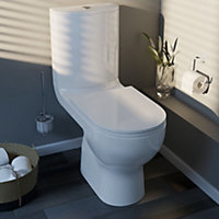GoodHome Cavally close-coupled toilet & pedestal basin