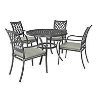 Carambole Metal 4 seater Dining set