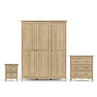 Silkeborg Matt riviera oak effect Bedroom furniture set