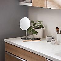 28mm Marloes White Bathroom Vanity Worktop, (L)800mm
