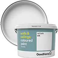 GoodHome Walls & ceilings North pole Silk Emulsion paint, 2.5L