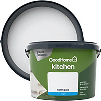 GoodHome Kitchen North pole Matt Emulsion paint 2.5L
