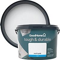 GoodHome Durable North pole Matt Emulsion paint 2.5L