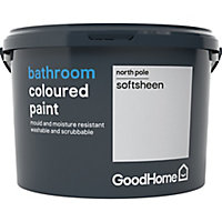 GoodHome Bathroom North pole Soft sheen Emulsion paint 2.5L