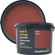 GoodHome Durable Fulham Matt Emulsion paint, 2.5L