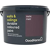 GoodHome Durable Mayfair Matt Emulsion paint, 2.5L
