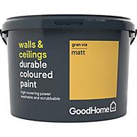 GoodHome Durable Gran via Matt Emulsion paint, 2.5L