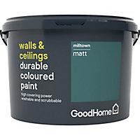 GoodHome Durable Milltown Matt Emulsion paint, 2.5L