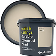 GoodHome Durable Chiapas Matt Emulsion paint, 5L