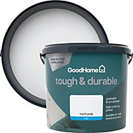 GoodHome Durable North pole Matt Emulsion paint 5L