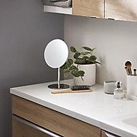 28mm GoodHome Marloes Gloss White Bathroom Worktop (W)1000mm