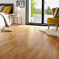 Elkins Natural Oak Real wood top layer Flooring Sample