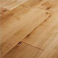 Marcy Natural Oak Real wood top layer Flooring Sample