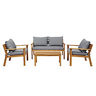 Denia Wooden 4 seater Coffee set