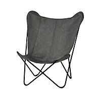 Mataso Grey Metal Chair
