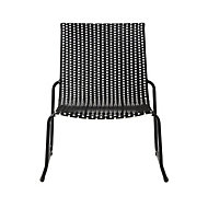 Morillo Black & white Metal Chair