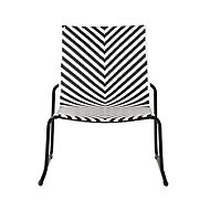 Morillo Black & white Metal Chevron Chair