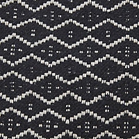 Denia Diamond rug Black & off white Cushion