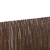 Wicker Brown Garden screen (H)1m (W)3m