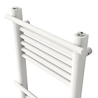GoodHome Solna 631W White Towel warmer (H)1500mm (W)500mm